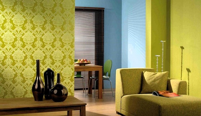 living-room-wallpaper-design-with-green-color-floral